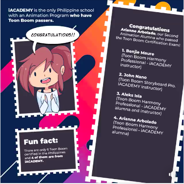 2nd Toon Boom Certified iACADEMY Animation Game Changer